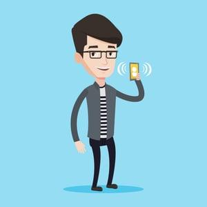 Phone call illustration
