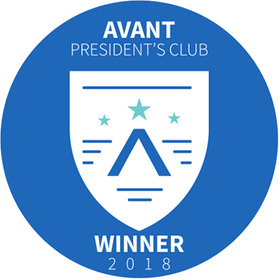 Avant Presidents Club Winner 2018
