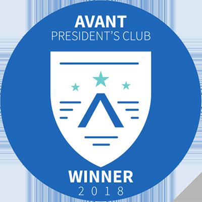 Avant Presidents Club Winner 2018
